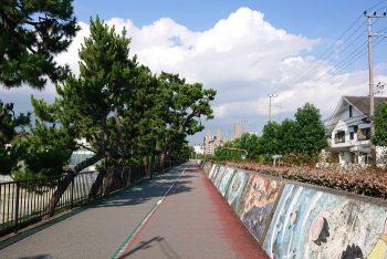 臨港線の古い堤防